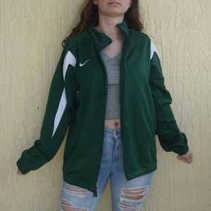 Vintage green nike zip up jacket